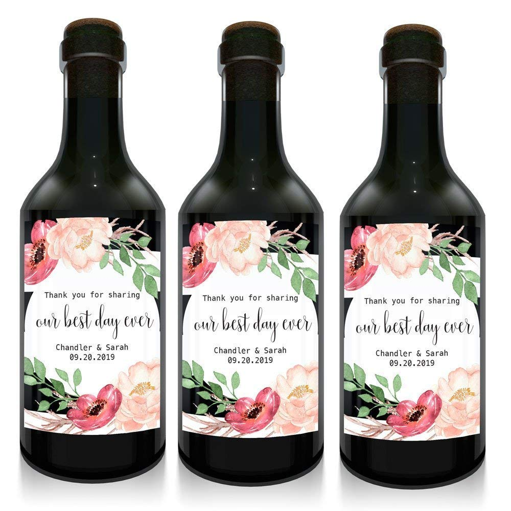 Photo Hen Party Personalised Mini Wine Bottle Labels Pack of 12