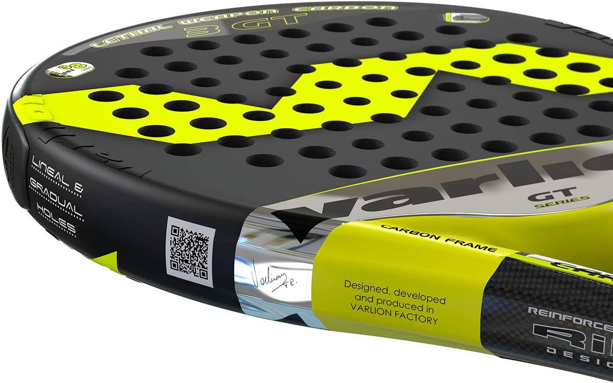 Varlion LW Carbon 3 GT Palas, Adultos Unisex, Negro/Amarillo, 375 ...