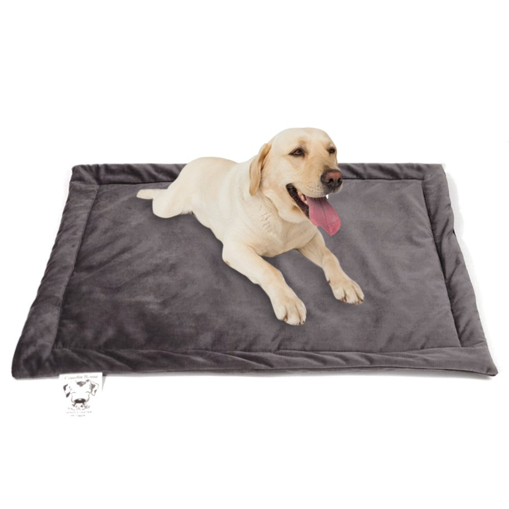 KEMUG Dog Bed Mat Washable Soft Crate Pad Pet Bed Cushion Durable for Small Medium and Large Dogs