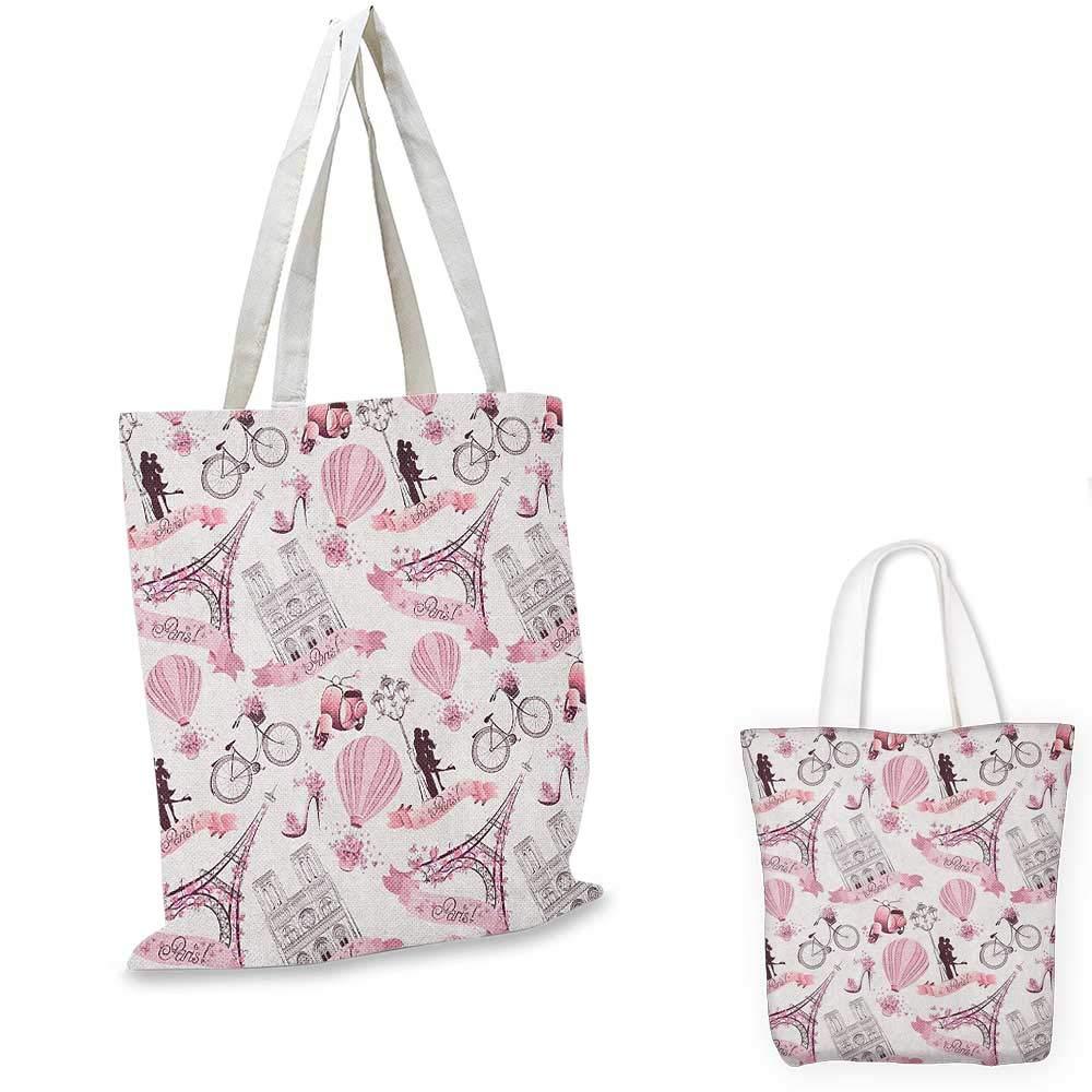 エッフェル塔 パリ エッフェル塔 ベーカリー 美味しいクロワッサント 伝統的な花柄デザイン ピンク ダークブラウン 14