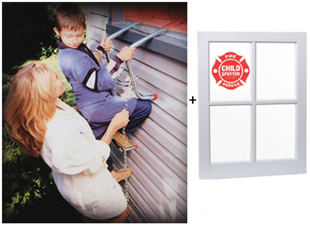 Saf-escape 2 Story, 15 Ft, Steel Chain Fire Escape Ladder Includes FREE Child Spotter