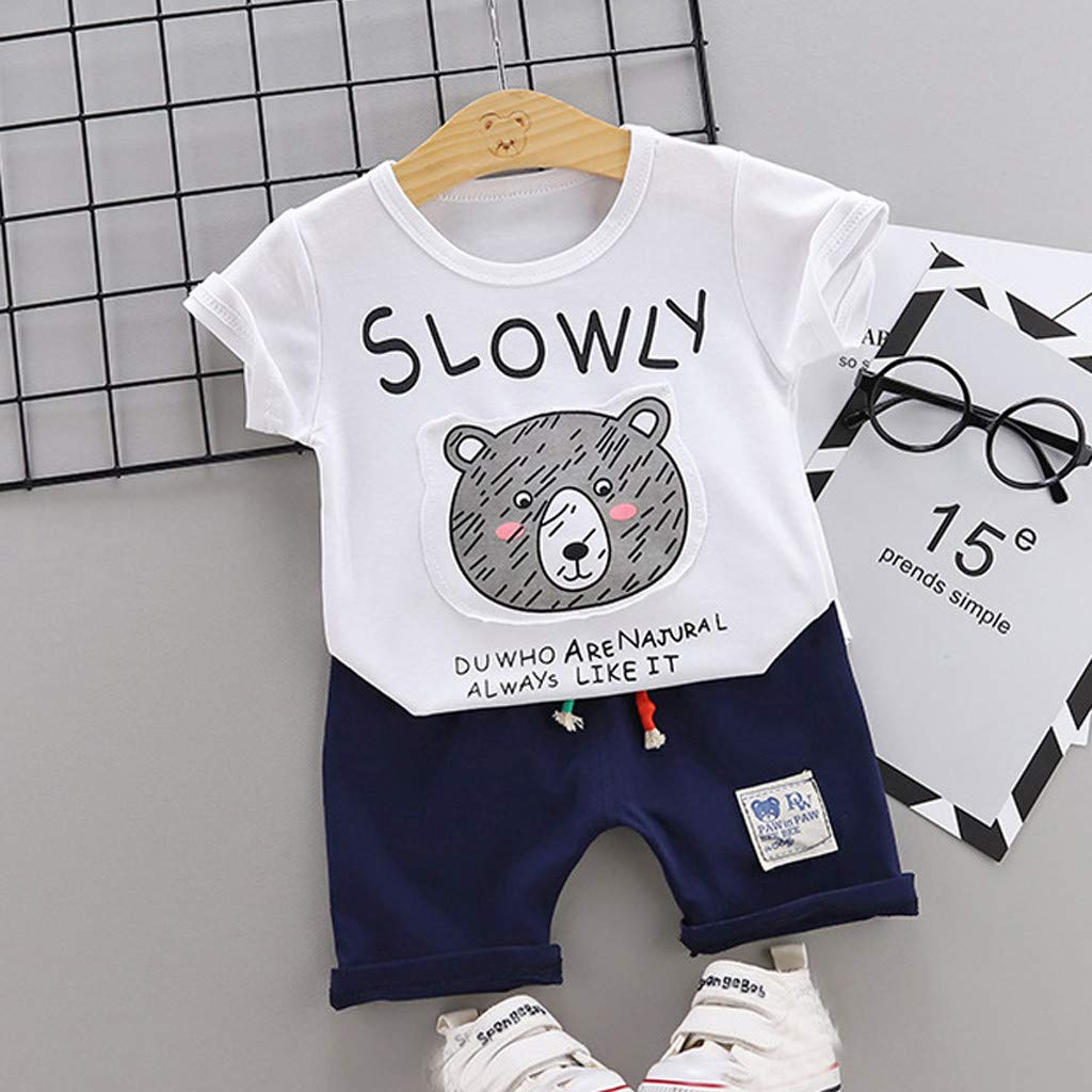 Short Pants Outfits Clothes Sets Fashion Kids Baby Boy Summer Cotton T-shirt