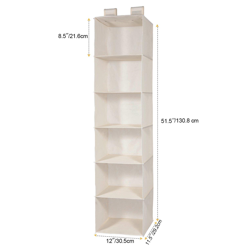 Umi H cm W x 30.5 L x129.5 cm 6 /étag/ères /à suspendre Armoire Meuble de rangement,29.2 beige Essentials Rack /à Pull Organiseur de v/êtement cm