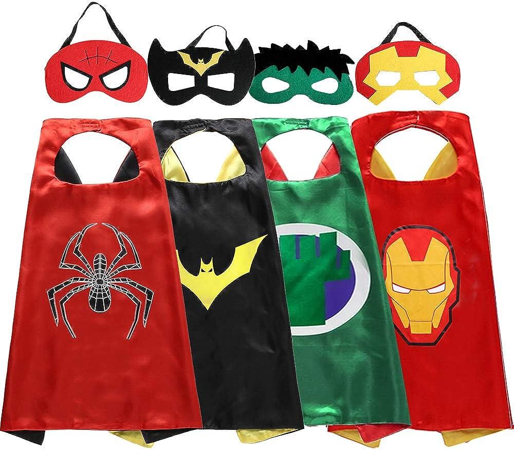 New child boy Halloween costume super hero cape /& mask captain america inspired