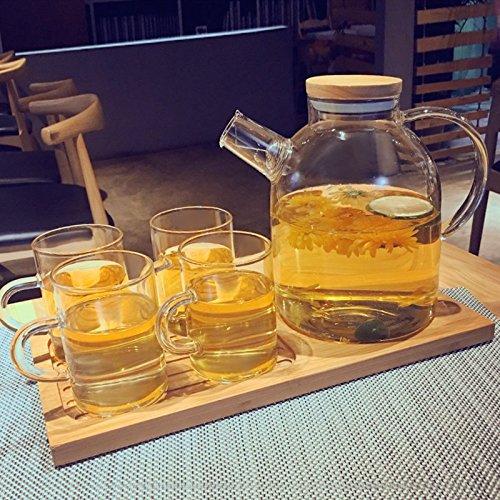 PLLP Creative Coffee Cup Set Glass Tea Set Upscale Simple Coffee Set Afternoon Tea Tea Set Household Cup Waterware,A