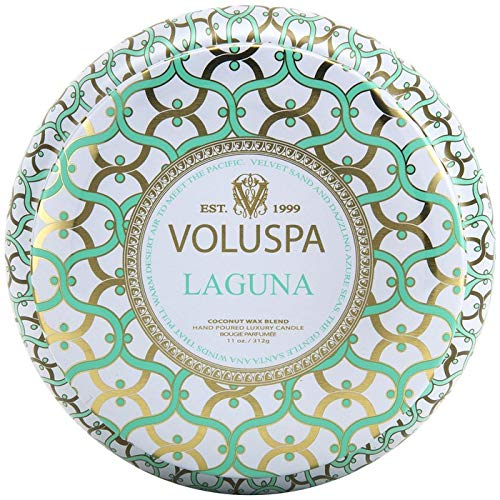 (Voluspa Laguna 2 Wick Tin Candle, 11 Ounces )