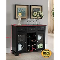 ArtMuseKit Buffet Server Sideboard Cabinet with Wine Storage