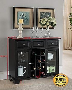 ArtMuseKit Buffet Server Sideboard Cabinet with Wine Storage