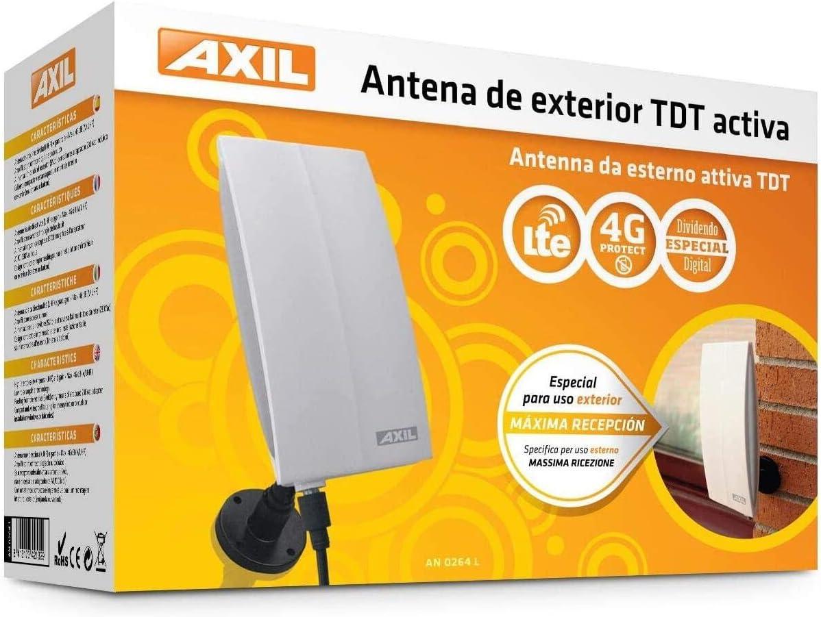 Engel Axil AN0264L Antena TDT Activa - Antena electrónica TV digital terrestre con Filtro LTE-4G Protect, hasta 46 dBi, para exterior e interior, 11.2 ...