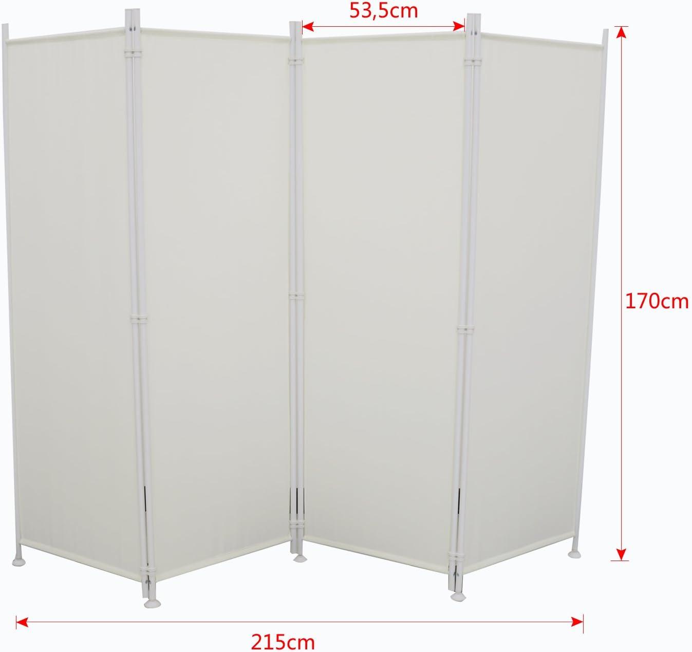 Paravent 215cm Sichtschutz Spanische Wand Stellwand Raumteiler Trennwand Garten