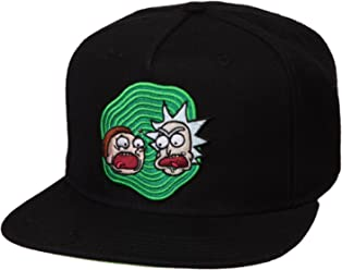 81819d8f7a7 Rick and Morty Adult s Black Snapback Hat