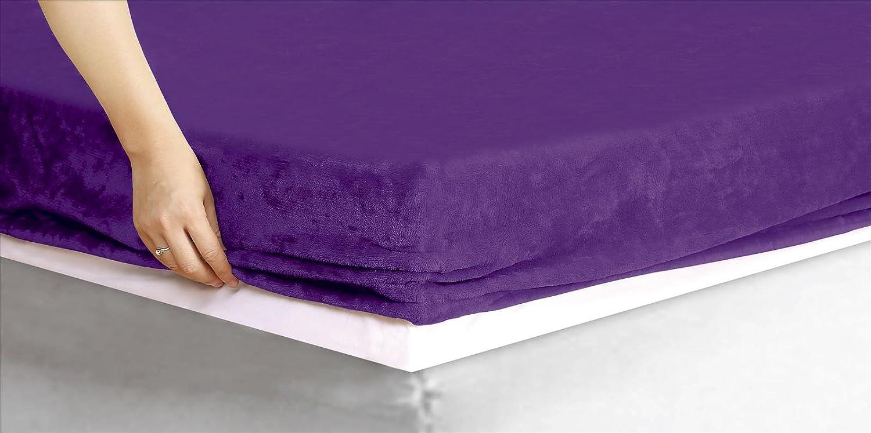 ForenTex - Sábana bajera ajustable, (MS-4027), Morado, invierno, cama 90 cm, con tacto seda de sedalina, nacarina, de 250 gr/m2, exclusivas. 1-4 sábanas bajeras paga solo un envío, descuento equivalente al finalizar la compra. Forrensa