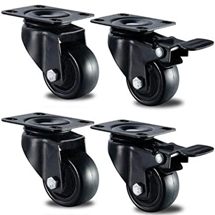 GBL - 4 Ruedas Giratorias de Goma, 50mm Ruedas para Muebles, Rueda Pivotantes,