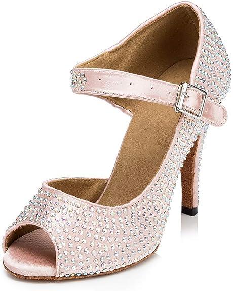 HIPPOSEUS Womens Leather Soft Jazz Shoes Easy Slip-on,Model Q359