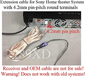 12ft speaker extension cable/wire/cord for Sony Home Theater systems which have 4.2mm pin-pitch round terminals