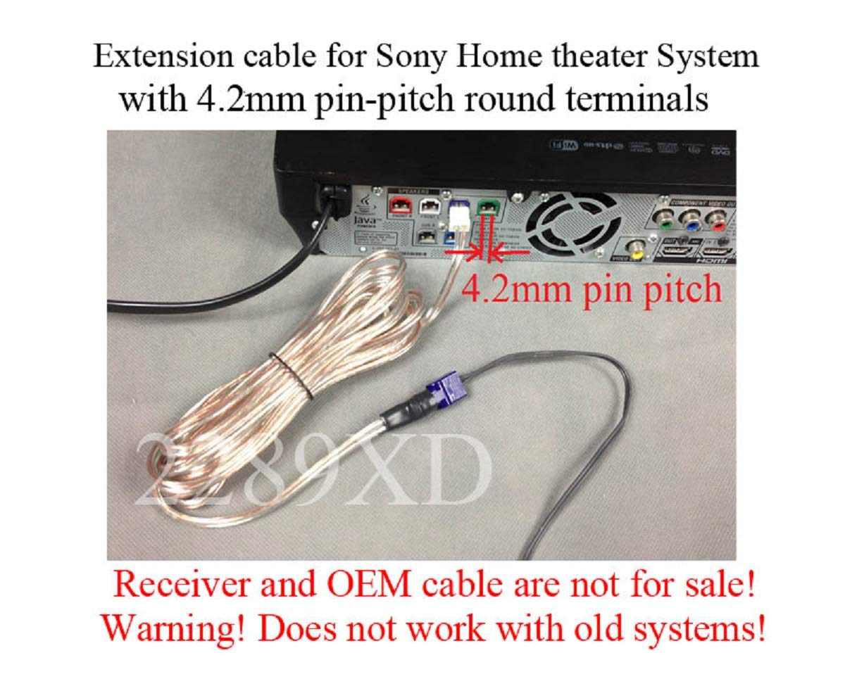 Amazon.com: 12ft speaker extension cable/wire/cord for Sony Home Theater  systems which have 4.2mm pin-pitch round terminals: Home Audio & Theater