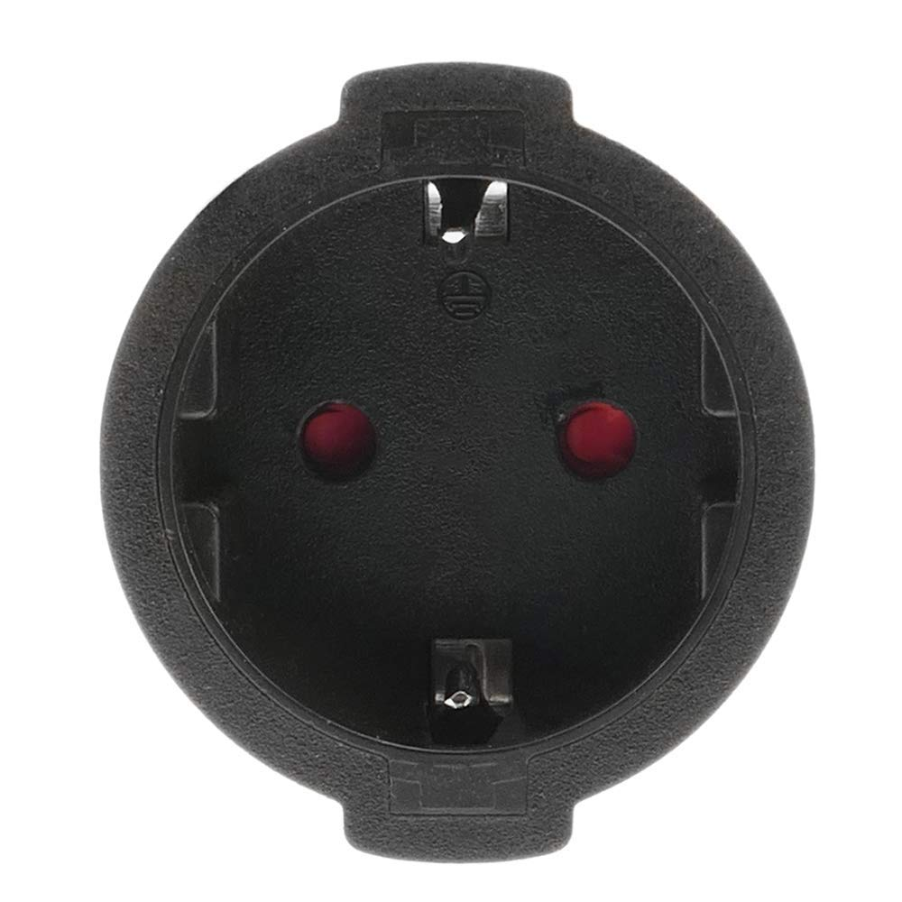 BeMatik Enchufe industrial Adaptador CETAC macho a SCHUKO hembra 2P+T 16A 230V IP44 IEC-60309 cable 1m
