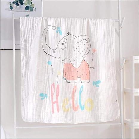Manta de bebé 110x110 CM Muselina de algodón 6 capas Grueso Recién ...