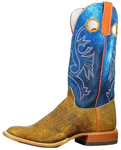 4badfecdc67 Amazon.com | Olathe Western Boot Men Leather Cowboy Bison Walking ...