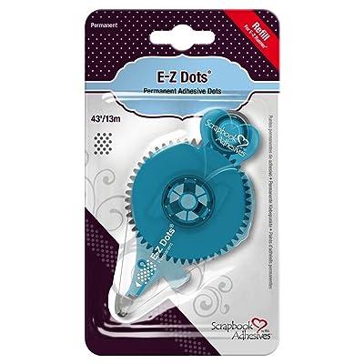 Toga Dévidoir rechargeable E-Z Dots Repositionnables, Autre, Transparent, 9 x 16 x 2 cm