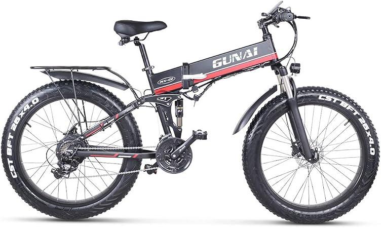 GUNAI Bicicleta de Montaña Eléctrica 26 Pulgadas E-Bike Sistema de ...