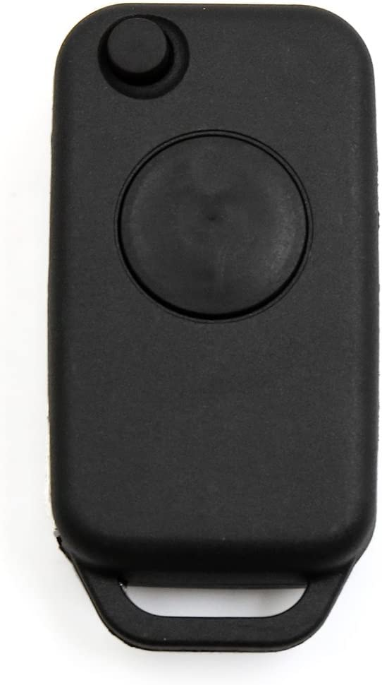 uxcell 1 Button Flip Folding Uncut Key Remote Control Fob Case Shell Replacement 267102334 for Benz