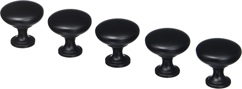 Amerock Flat Black Knobs BP53005-FB