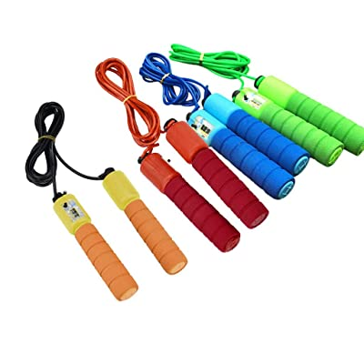 Funic Jump Rope, Speed Skipping Rope with Calorie Counter, Adjustable Digital Counting Jump Rope with Ball Bearings for Fitness, Crossfit, Exercise, Workout, Boxing, MMA, Gym: Sports & Outdoors