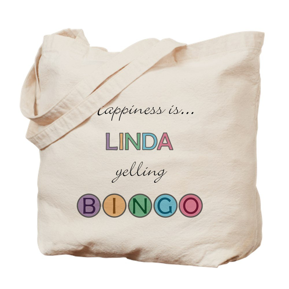 CafePress - Linda BINGO - Natural Canvas Tote Bag, Cloth Shopping Bag by CafePress