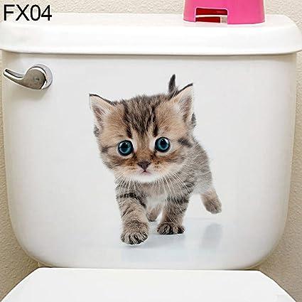 Dandeliondeme 3D Katze Hamster Hund WC Aufkleber schöne Wandtattoo ...