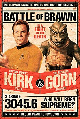 Star Trek Poster - Captain Kirk vs The Reptilian Gorn (24