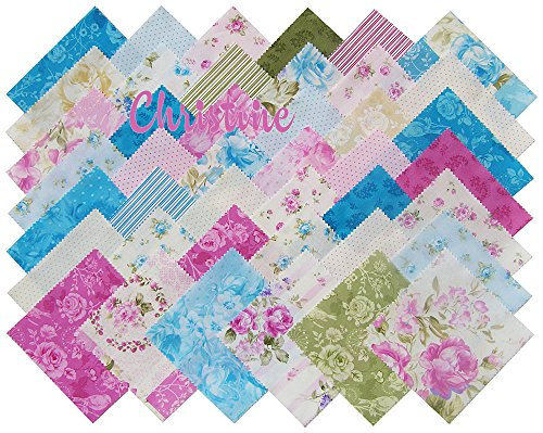 Eleanor Burns Christine Precut 5 Inch Charm Pack Cotton Fabric Quilting Squares Assortment Pink