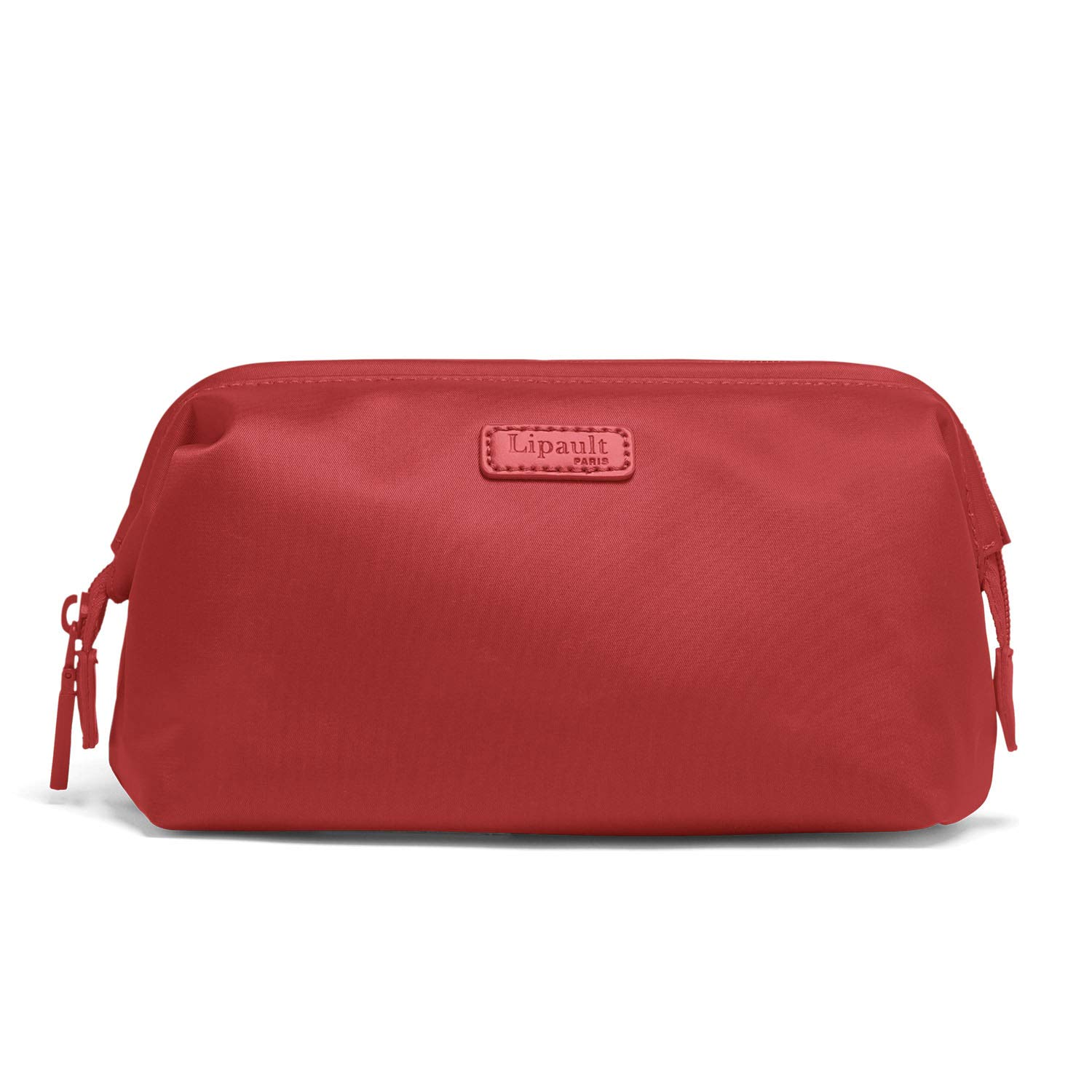 Lipault – Plume Accessories Toiletry Kit – Medium Compact Travel Organizer Bag for Women – Cherry Red
