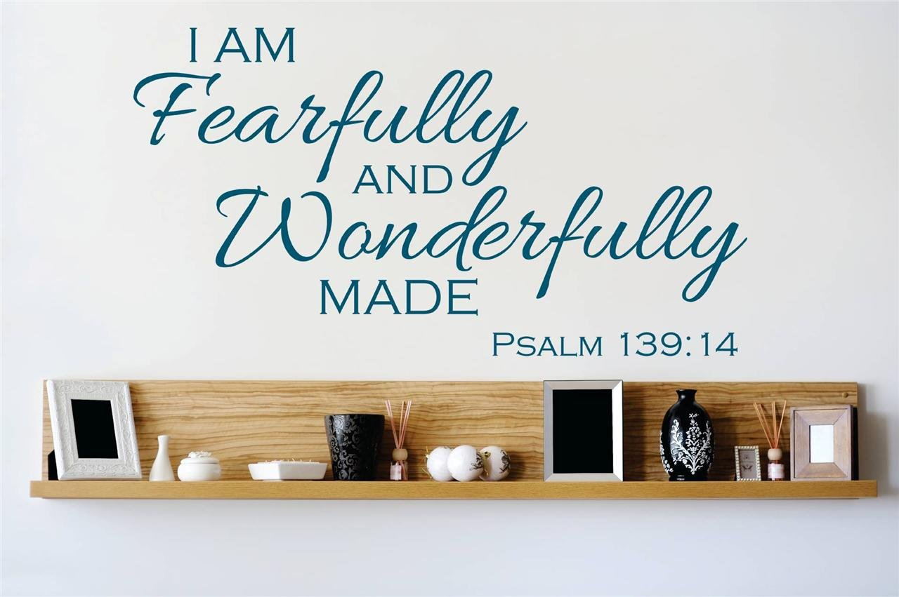 Decal - Vinyl Wall Sticker : I am fearfully and wonderfully made ...
