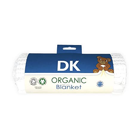 DK Glovesheets manta celular de algodón orgánico/tamaño de cinta, color blanco satinado