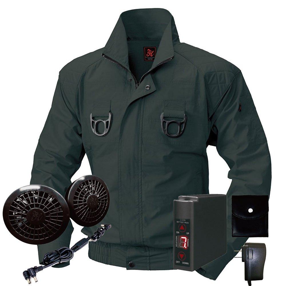 空調服快適ウェア ブルゾンバッテリーセット V722201set B071WTMRQS 3L|73チャコール 73チャコール 3L