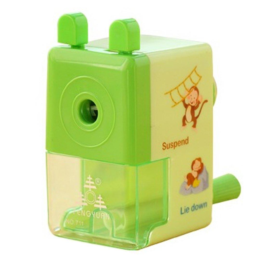 FineInno Cute Green Pencil Sharpener Manual per Bambini (verde)