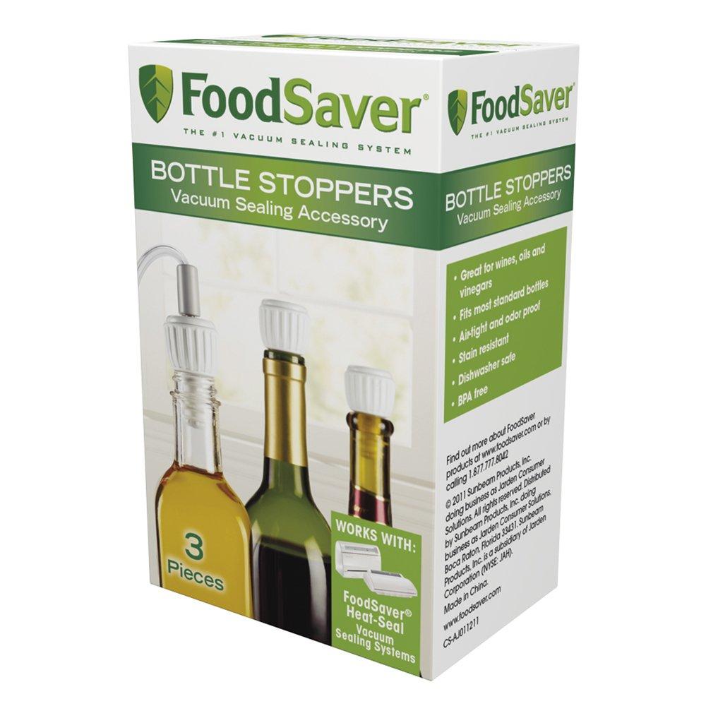 FoodSaver Bottle Stoppers, 3-Pack