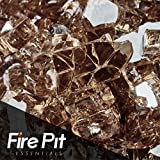 Copper Reflective Fire Glass 1/4″ Firepit Glass 10 Pounds Great for Fire Pit Fireglass or Fireplace Glass