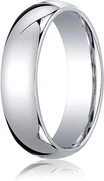 Solid 10k White Gold 5mm Standard Comfort Fit Band Finger Size