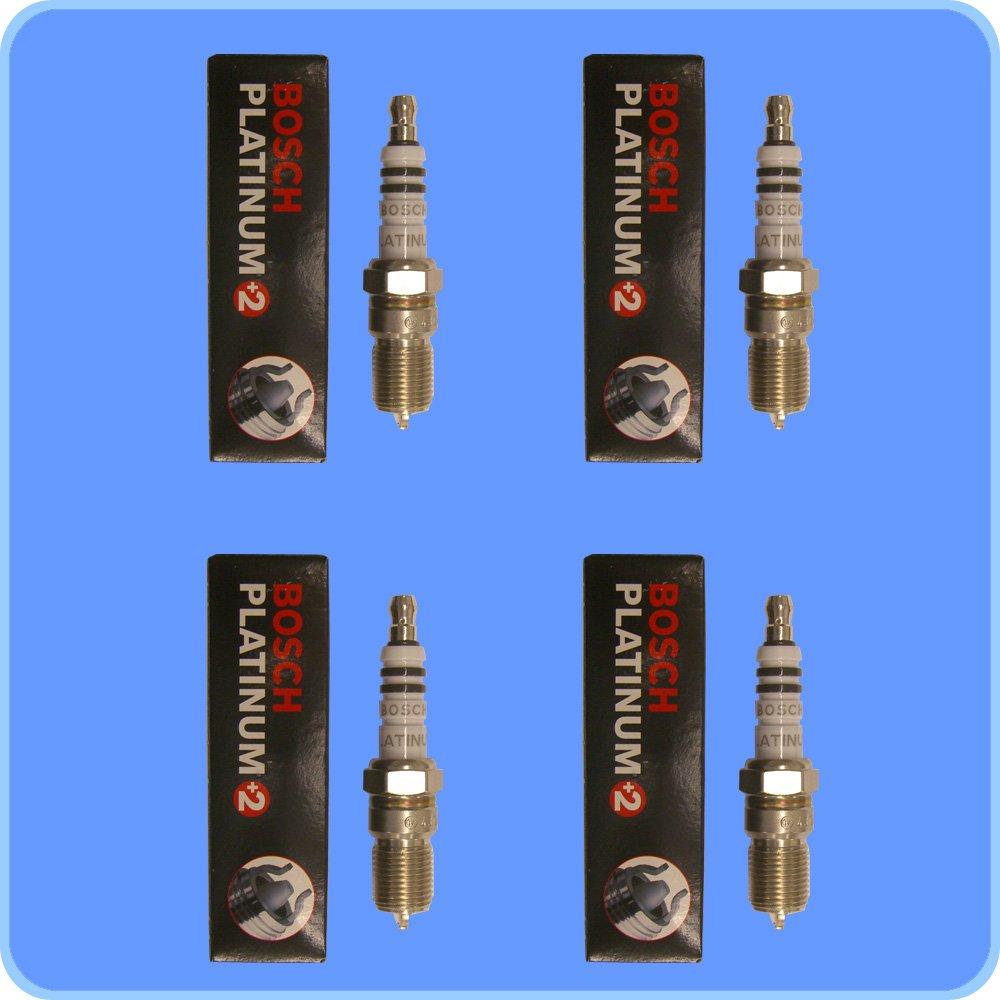 Set de (4) Bosch pre-gapped Bujías 4304 + (4) bobinas de encendido para Ford Mazda y mercurio: Amazon.es: Coche y moto