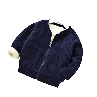 e07901546bc3 Amazon.com  BibiCola Baby Boy Warm Coat Little Girl Fleece Jacket ...