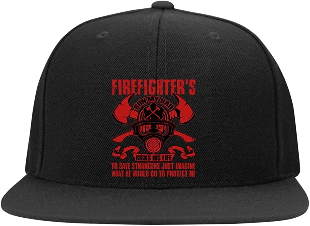He Would Do to Protect Me Profile Snapback Hat Firefighters Son Cap