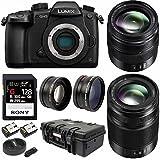 PANASONIC LUMIX GH5 Body 4K Mirrorless Camera w/ 12-35mm + 35-100mm (2 Lens Kit) & 128GB R300 Bundle