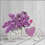 Cuadro en lienzo Vintage 40x 40cm) Bike with Love