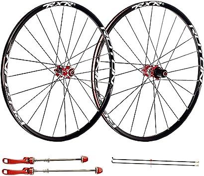 LSRRYD Juego de Ruedas de Bicicleta para 26 27.5 29 Pulgadas MTB Llanta de Doble Pared Freno de Disco Liberación rápida Ruedas de Bicicleta de montaña 24H 7 8 9 10 11 Velocidad: Amazon.es: Deportes y aire libre