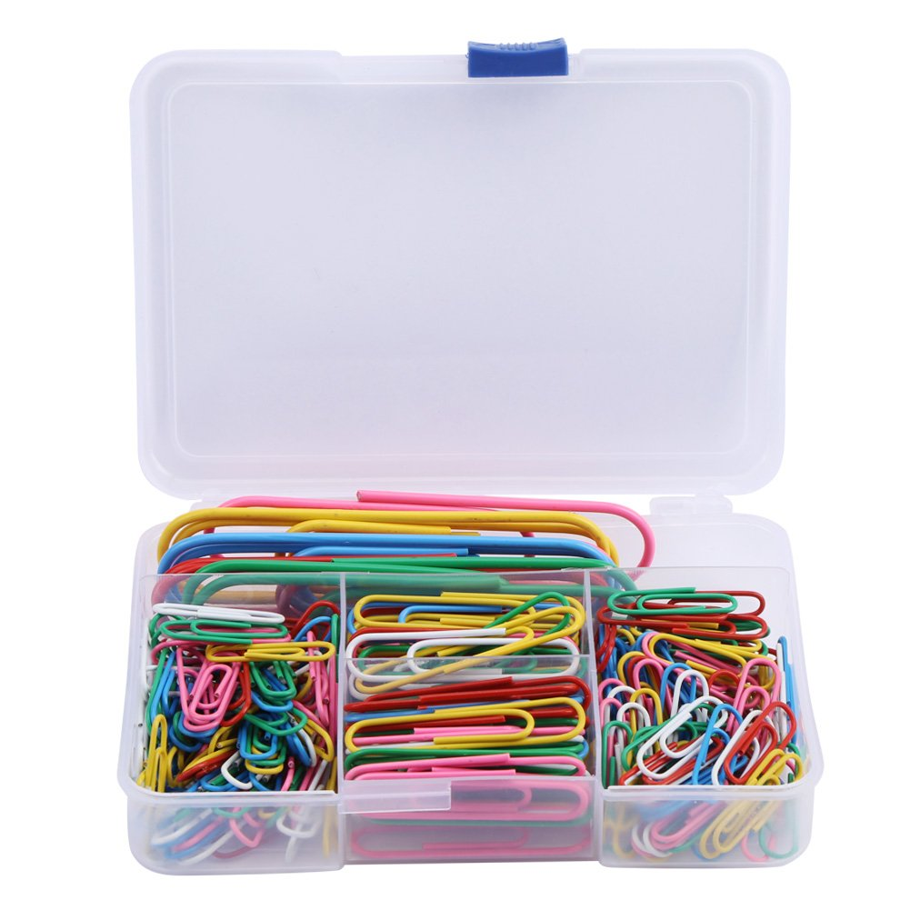 250 Pcs Color Coated Paper Clips Universal Color Paper Clips Decorative Paper Clips for Office Supplier School Student