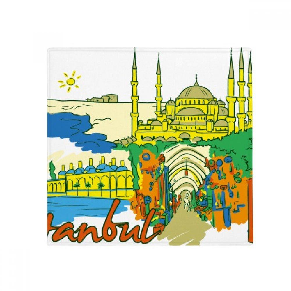 DIYthinker Turkey Istanbul Top Carboplatin Watercolor Anti-Slip Floor Pet Mat Square Home Kitchen Door 80Cm Gift