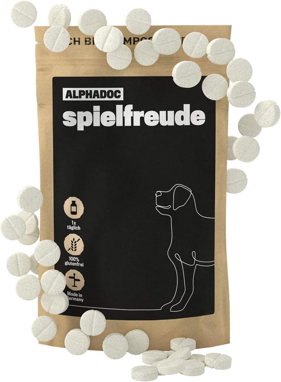 alphazoo spielfreude - Pastillas articuladas para perros, alegría de movimiento y movilidad, alivia el dolor, corteza de sauce, garra del diablo