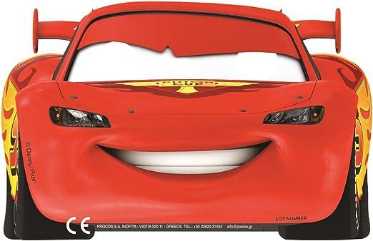 ALMACENESADAN Gabbiano, 27596, Pack 6 mascaras para Fiesta Disney Cars: Amazon.es: Juguetes y juegos